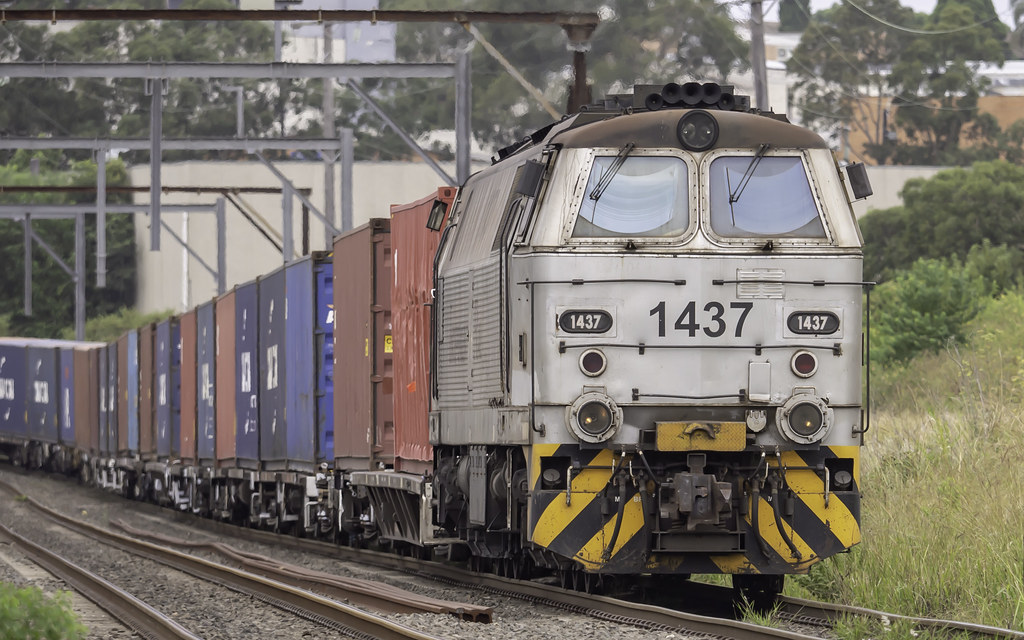 Locomotive 1437 as Trip Train from Port Botany to Minto