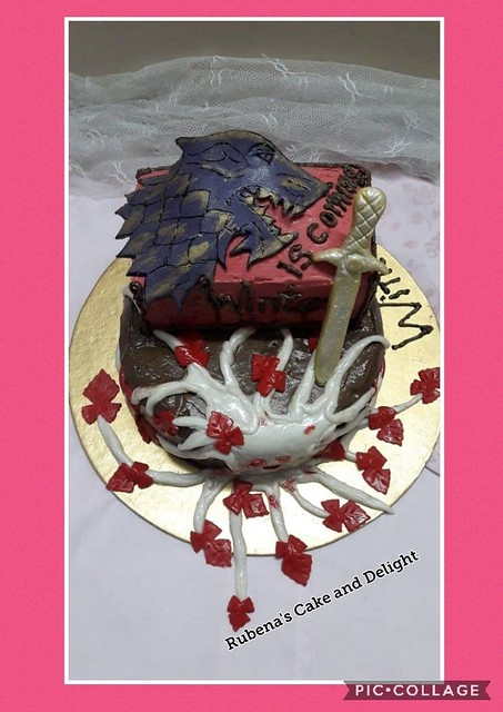 Game of Thrones Theme Cake by Rubena Ruby in Rubena's Cake and Delight