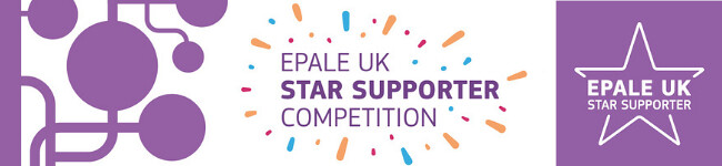 EPALE UK Star Support blog competition logo