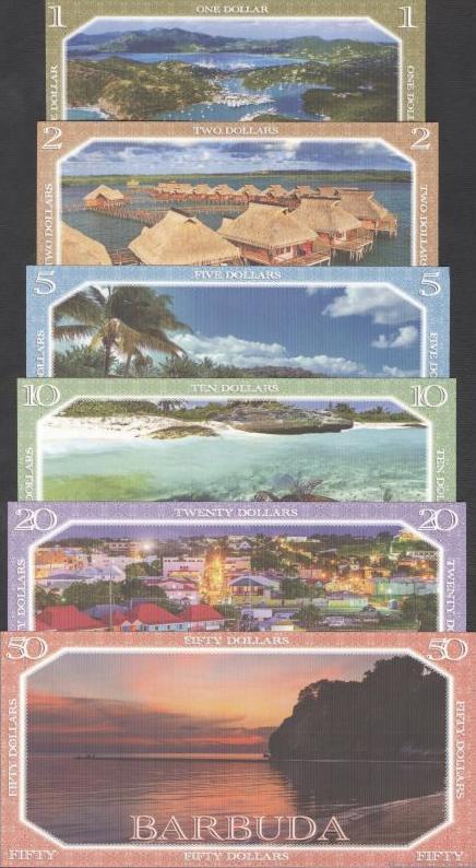 Bermudy 1-2-5-10-20-50 Dollars 2019 polymer
