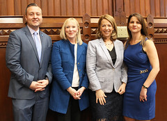 April 17, 2019. (L to R) Rep. JP Sredzinski, Rep. Carol Hall, Rep. Dorinda Borer and Rep. Christie Carpino.