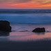 Last light sunset at Garrapata Beach by Margret Maria Cordts
