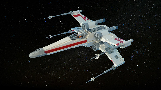 Lego X-Wing MOC (4K Wallpaper)