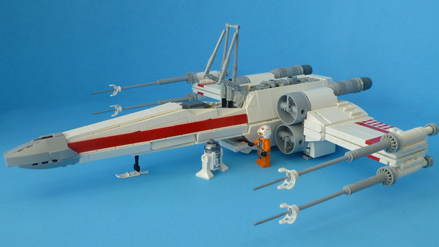 Lego X-Wing Landed