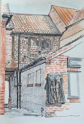 Parking for broomsticks, 31 Shambles, York