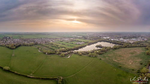 aerialphotography oxfordshire sunset westoxfordshire ducklingtonlake witney dusk hazy ducklington mavicair dji england unitedkingdom