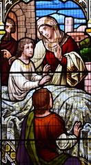 The raising of the son of the Widow of Nain (Ward & Hughes, 1880s)