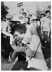 Choke hold arrest at American University: 1970
