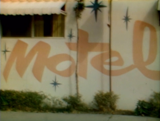 Old Painted Motel Signage, Exterior Burbank Shot, Rowan & Martin's Laugh-In,