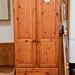 Tall solid pine 2 door E220 wardrobe