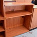 Low cherry open bookcase E80