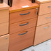 Desk high beech ped E80