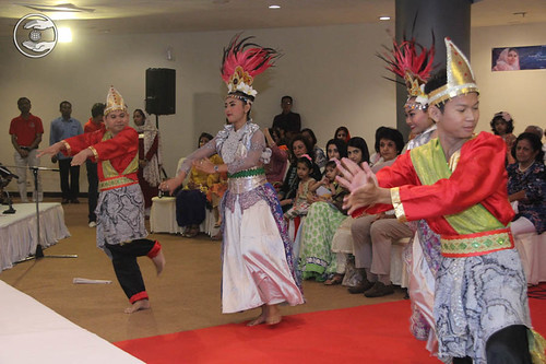 Traditional welcome through Indonesian culture