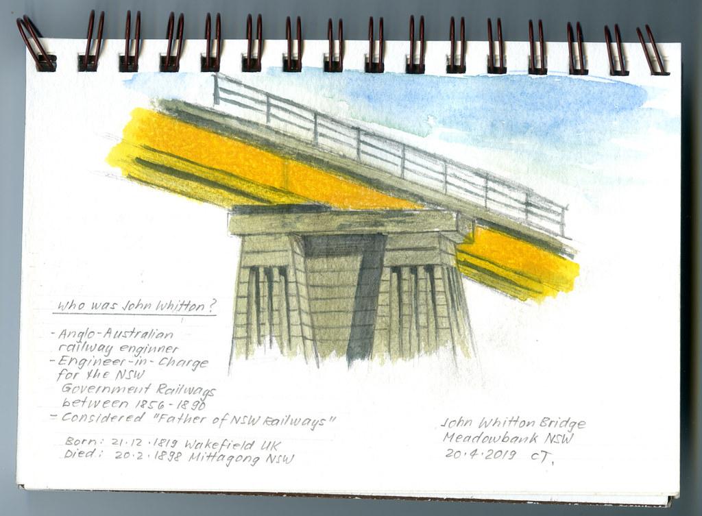Sketching - John Whitton Bridge, Meadowbank NSW