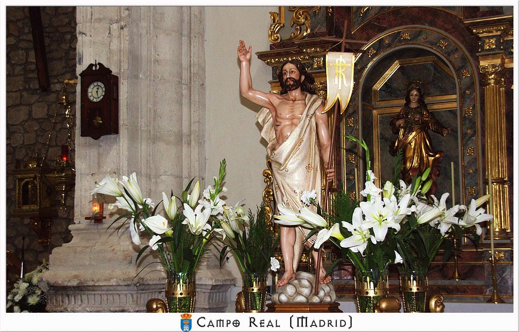 Jesús resucitado paso en Campo Real de Madrid