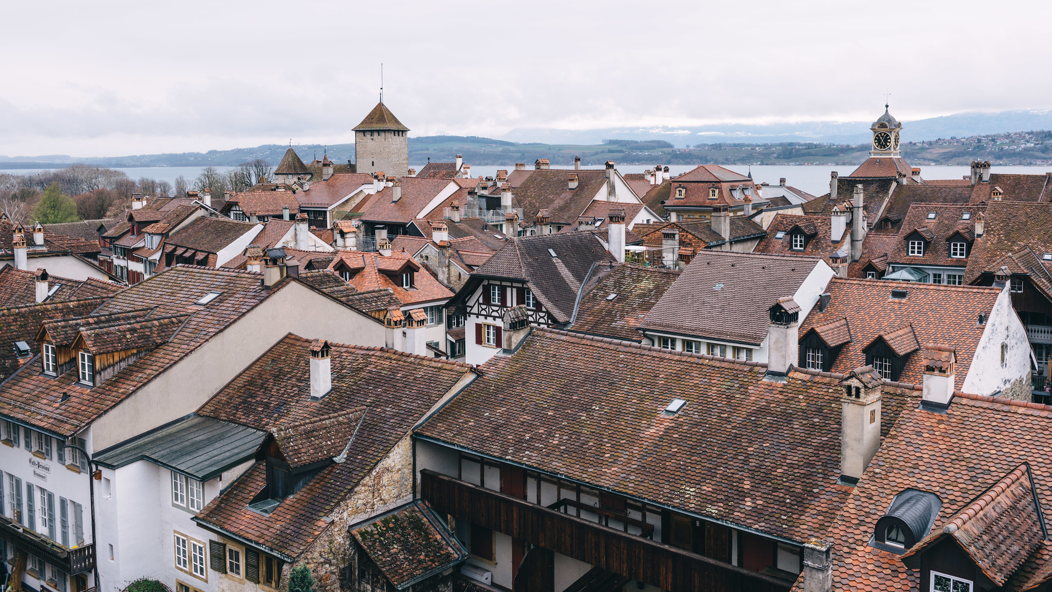 View from the wall over Murten