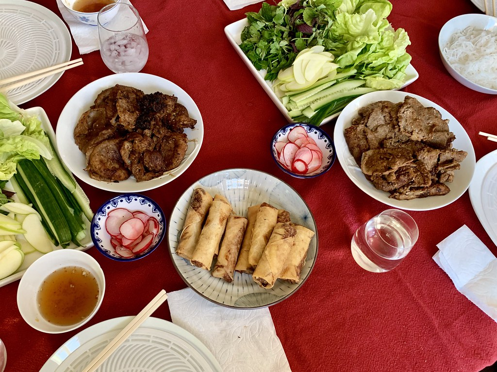 Homemade Vietnamese dinner