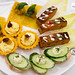 Savory food - Otak on Belgium endive(coconut cream fish quenelle), cucumber sandwich, egg salad tartlets with pineapple patcharee