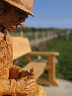 Remembrance Soldier Wood Carving