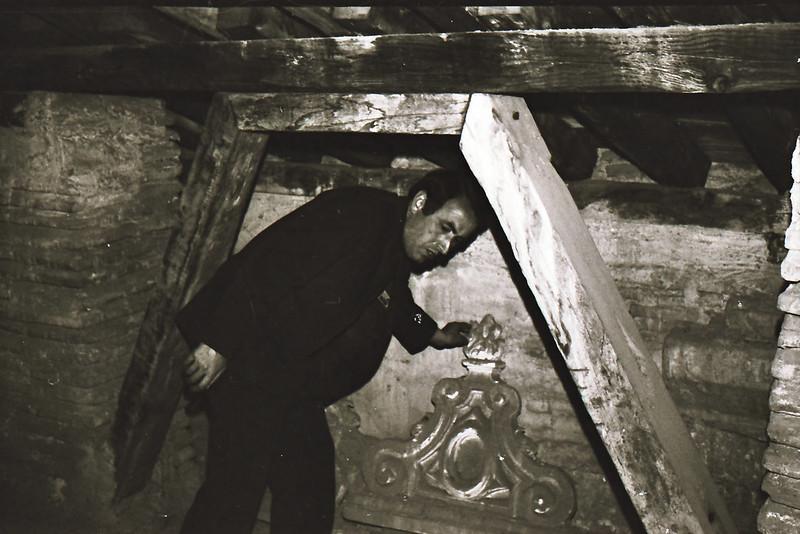 D. Luis García Hinojosa. Vista tomada desde las zonas superiores de la catedral en los años 60. Fotografía de Victoriano de Tena Sardón