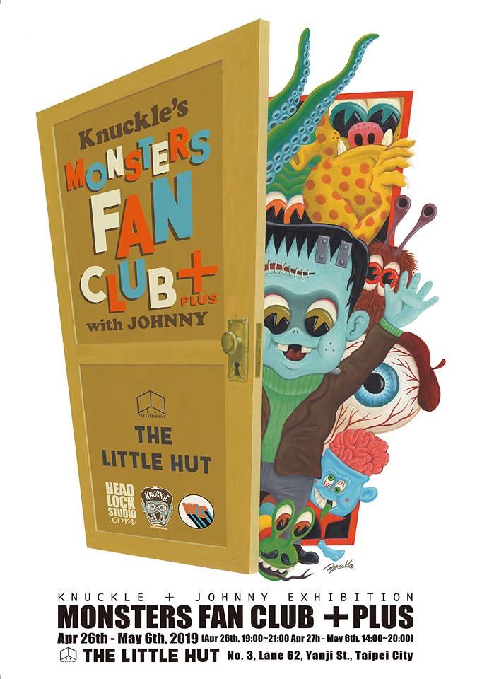 各式風貌的可愛怪獸,襲來!【Knuckle's Monsters Fan Club+ with Johnny】雙人聯展 at The Little Hut