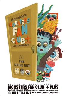 各式風貌的可愛怪獸,襲來!【Knuckle's Monsters Fan Club+ with Johnny】雙人聯展 at The Little Hut