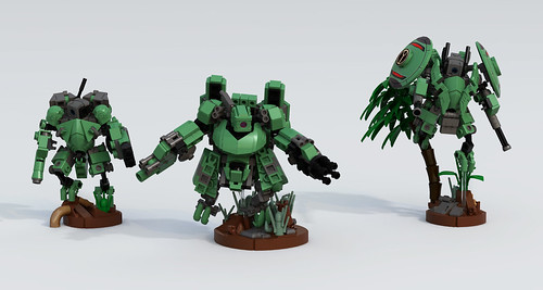 Tau Commander in XV3 with Bodyguards
