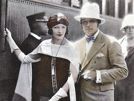 Rodolfo Valentino con Natacha Rambova