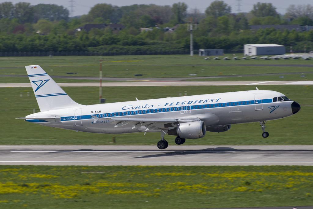 D-AICH Airbus A320-212 (Retro Livery)