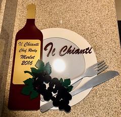 Waterjet 8 color wall art wine