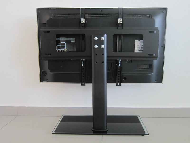 Universal TV Tabletop Stand - With TV - Back