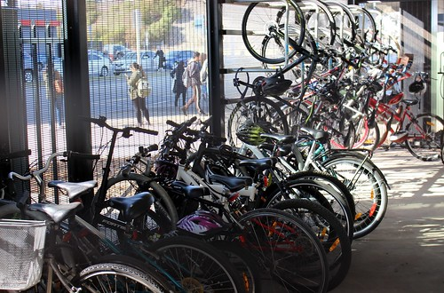 Williams Landing station - bike cage