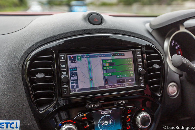 GPS del coche de alquiler
