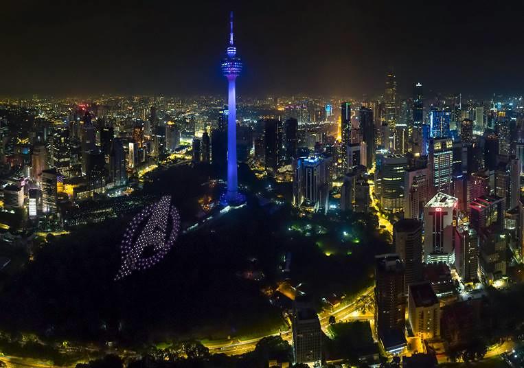 Marvel Studios' Avengers Endgame Drone Show Lights Up Kuala Lumpur City Skyline