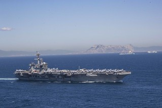 USS Abraham Lincoln (CVN 72) transits the Strait of Gibraltar. | by Official U.S. Navy Imagery
