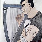 Strange gun harp Frank is playing.