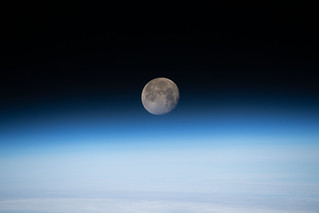 The moon in its waning gibbous phase | by NASA Johnson