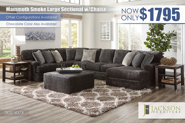 Mammoth Smoke Large Sectional wChaise_4376