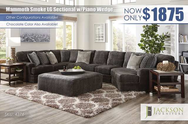 Mammoth Smoke Large Sectional wPiano Wedge_4376