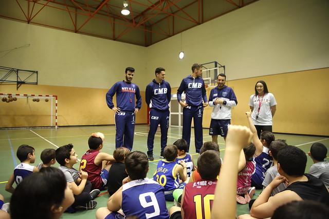 #CANTERACMB | Rubio y Vucetic visitan al Pequebasket y Minibasket