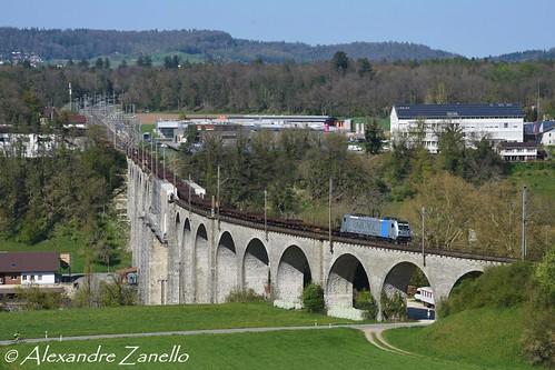 br187 traxx f140 ac3 bombardier railpool bls cargo singen dunkerque eglisau viaduc viadukt suisse schweiz svizzera svizra switzerland