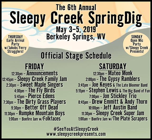SpringDig19 Schedule
