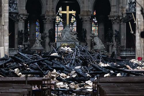 Notre Dame após incêndio