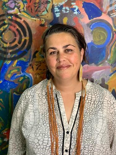 Featured Artist Lisa Waup of Baluk Arts. Image courtesy of Baluk Arts.