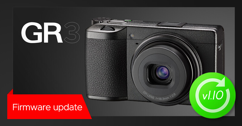 New firmware update v1.10 for RICOH GR III