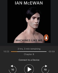 Bedtime reading. Interesting retrofuturism but not sure it's my favourite book with AI in it. It does raise some familiar AI problems and introduces more human interaction into the technology. Some way to go yet.