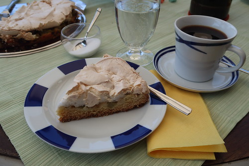 Rhabarberkuchen mit Baiserhaube (mein Stück)