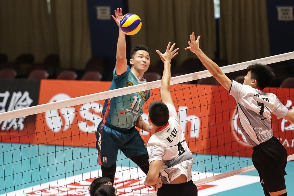 香港隊Siu Cheong Hung殺球。(中華排協提供)
