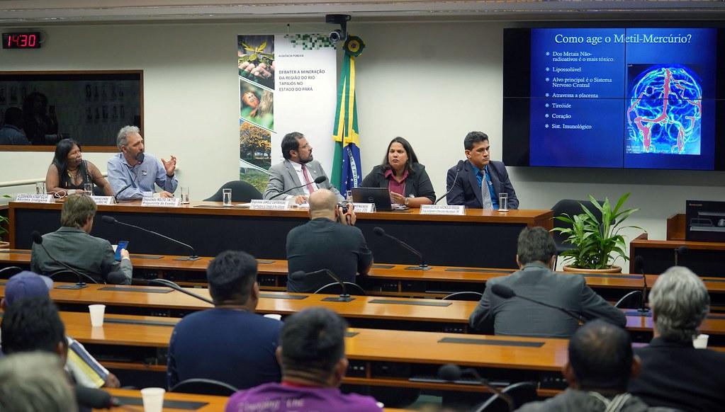 Contaminação do rio Tapajós por mercúrio é tema de audiência na Câmara em Brasília, Debate de mercúrio em Brasília