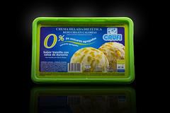 Helado Crufi Light - Frutilla con trozos de frutilla